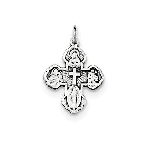 Mini Antiqued Cross Charm - 1
