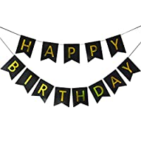 Happy Birthday Banner,Birthday Party Decorations and Supplies,Versatile, Beautiful, Swallowtail Bunting Flag Garland Surprise Ideas