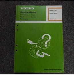 1982 volvo 700 900 climate control fault tracing design function rh amazon com volvo amazon service manual Volvo Repair Manual