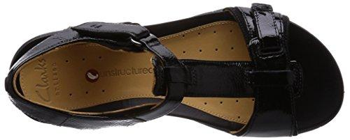 Clarks Un Voshell - Sandalias de Vestir de cuero mujer Nero(Black)