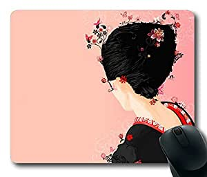 Beautiful Japanese Geisha Masterpiece Limited Design Oblong Mouse Pad by Cases & Mousepads