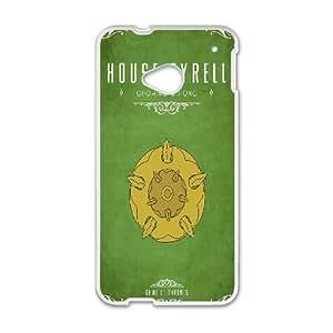 Juego de Tronos Casa Tyrell funda plástica HTC caso Un teléfono celular M7 funda funda caja del teléfono celular blanco cubre ALILIZHIA06084