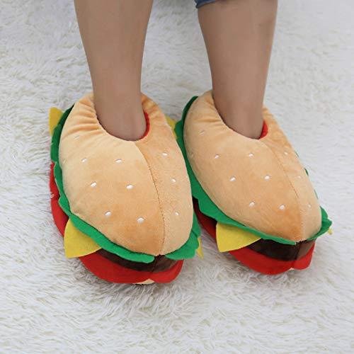 En Femmes Chaussures Chaud Arch Plancher Pantoufles Doux Coton Et Bottes Hamburger Noël De Soutien Home X7nSvSxR