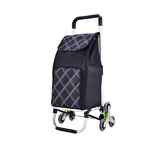 ZA Overall Bold Aluminum Alloy, Thick Oxford Tarpaulin Bag, Multi-Color Optional, Shopping cart, Grocery Shopping cart, Small Pull cart, Portable, Folding, Trolley, Trolley, Household Luggage Trailer