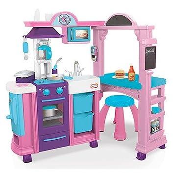 little tikes kitchen restaurant pink amazon co uk toys games rh amazon co uk little tikes pink kitchen asda little tikes kitchen & restaurant pink