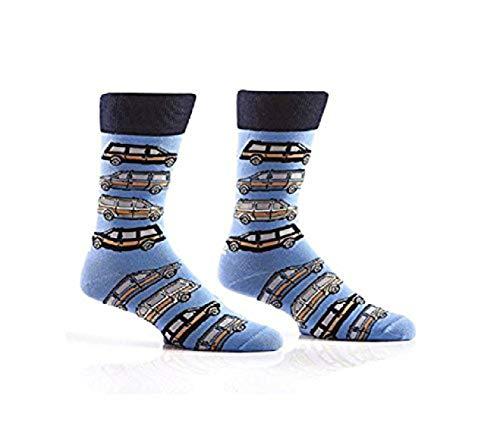Yo Sox Animal Inspired - Funky Men's Crew Socks for Dress or Casual Wear Size 7-12 for Dress or Casual Wear Size 7-12 (Men's 7-12, Caravan Club)