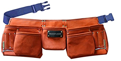 Amazon Exclusive Suede Heavy Duty, 12 Pocket Tool belt AMR-04 by Rockyjack