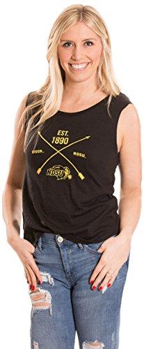 Alma Mater NCAA North Dakota State Women's Muscle Tee/Tank, Medium, Black