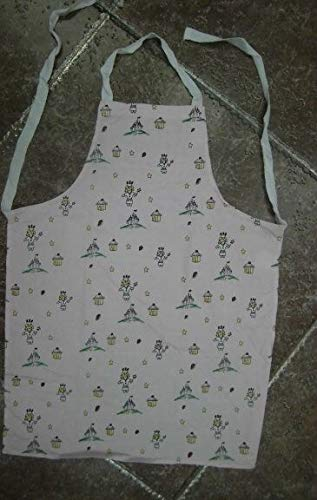 Aprons for Kids Pink and White Printing Kids Kitchen Cooking Baking by Aprons (Image #2)