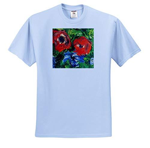 3dRose VintageChest - Masterpieces - Claude Monet - Anemonies - T-Shirts - Toddler Light-Blue-T-Shirt (4T) (ts_303323_65) (Monet Toddler Shirt)