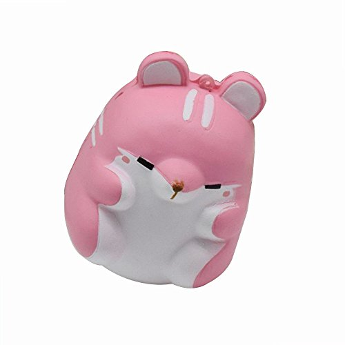 Price comparison product image Hot Sale!! ZOMUSA Fun Hamster Squishy Decor Slow Rising Kid Toy Squeeze Relieve Anxiet Gift (pink)