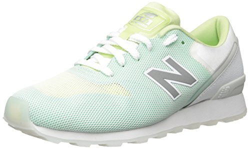 New Balance Women's 696 RE-Engineered Lifestyle Fashion Sneaker, Green/White, 10 B US