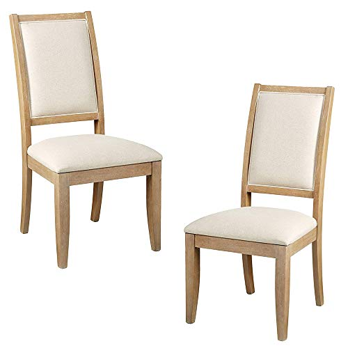 Furniture At Home Food & Wine Harvest Collection Side Chair, Set of 2, Natural Wash
