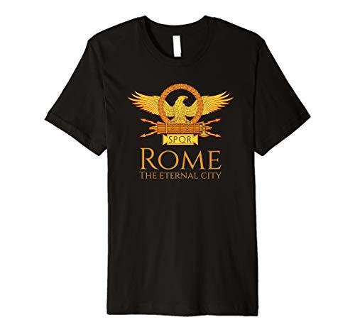 (Italian Pride SPQR Rome The Eternal City Ancient Roman Eagle Premium T-Shirt)