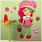 Strawberry Shortcake Mega Decal Pack - Includes 1 Giant Scratch N Sniff Wall Decal (17 Pieces) and 29 Wall Decals