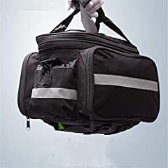 Large capacity: The waterproof bicycle bag can hold more items such as mobile phones, keys, wallets, umbrellas, paper towels, sunglasses, mobile power, sunscreen, keychain lights and personal items.       Material: Canvas. This motorcy...