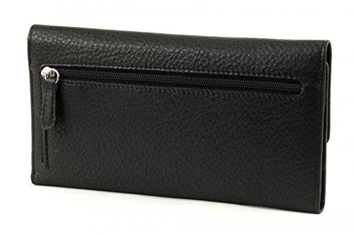 Braun Büffel Savona Porte-cartes de crédit cuir 18,6 cm noir