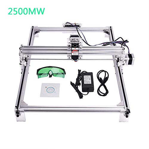 MYSWEETY DIY CNC Laser Engraver Kits, 40x50cm 2500mW Wood Carving Engraving Cutting Machine Desktop Printer Logo Picture Marking, 2 Axis (Best Laser Engraver Reviews)