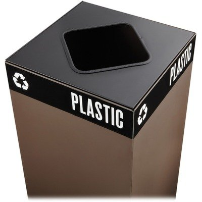 Public Recycling Container Square Steel - 2