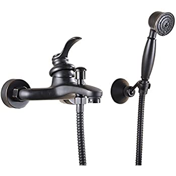 Greenspring Oil Rubbed Bronze Wall Mount Handheld Tub Shower Faucet