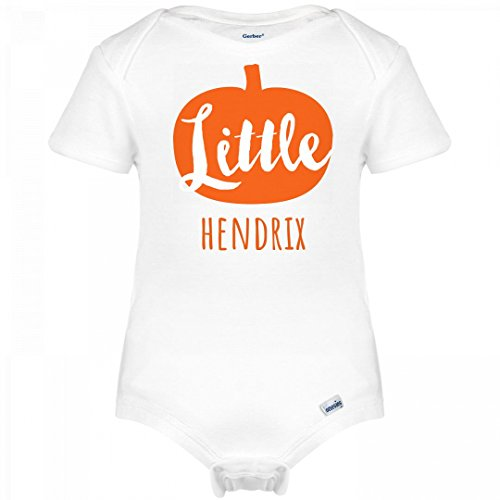 Hendrix Halloween Costume (Little Halloween Pumpkin Hendrix: Infant Gerber Onesies)