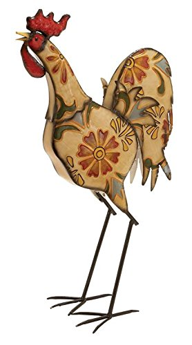 Deco 79 55106 Metal Decorative Rooster Statue, 15 By 23 Inch