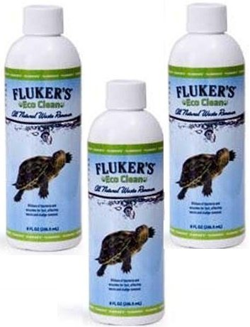 Fluker Labs Eco Clean All Natural Reptile Waste Remover, 8-Ounce Bottles (Pack of 3)