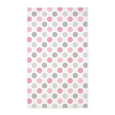 CafePress - Pink Gray Polka Dots - 3'x5' Area Rug