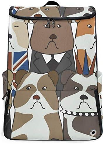 リュック メンズ レディース リュックサック 3way バックパック 大容量 ビジネス 多機能 ブルドッグ 犬柄 (2) スクエアリュック シューズポケット 防水 スポーツ 上下2層式 アウトドア旅行 耐衝撃