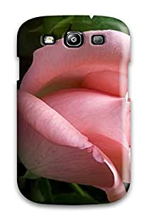 Awesome PsrZxTj19586DySXE ZippyDoritEduard Defender Tpu Hard Case Cover For Galaxy S3- Shy Feeling Pink Rose Portret Green Leafs Nature Flower