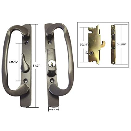Stb Sliding Glass Patio Door Handle Set With Mortise Lock Bronze