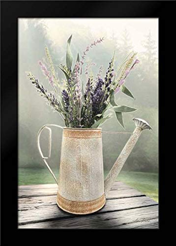Lavender Watering Can Framed Art Print by Deiter, Lori
