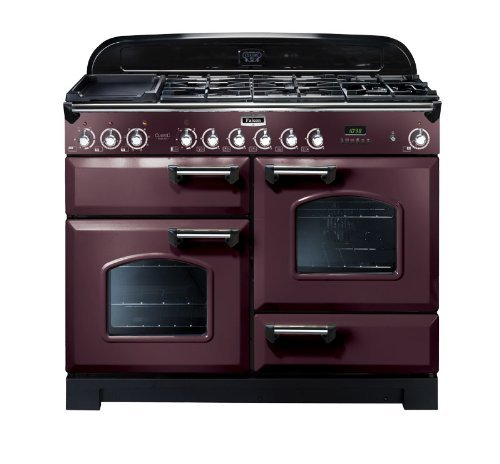 Falcon RANGECOOKER CLASSIC DELUXE 110 tiefrot /chrom - Induktion Grill / Multif.ofen / HL Ofen