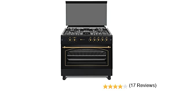 Cocina SolThermic F9L50G2-N PANORÁMICA de color Color Negro ...