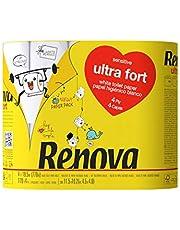 Renova Ultrafort toiletpapier, verpakt in papier, 4 lagen, 4 grote rollen