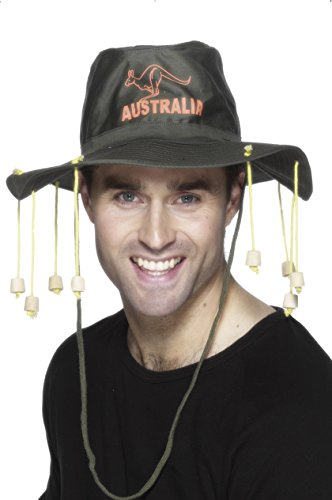Smiffy's Australian Hat, Corks, G'day Sport and Fabric (Australian Hat With Corks)
