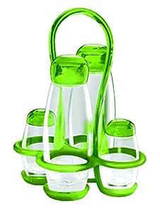 Guzzini GU-2313.00-44 Bolli Cruet Set, 6-Ounce/2-Ounce, Green