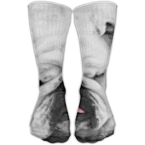 YUANSHAN Socks Lazy Pug Women & Men Socks Soccer Sock Sport Tube Stockings Length 11.8Inch -