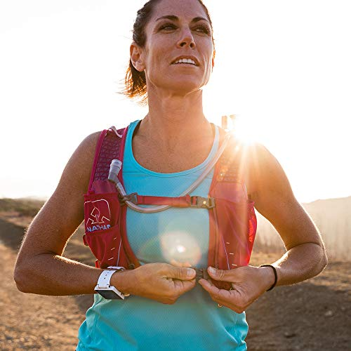 Nathan TrailMix Running Vest/Hydration Pack. 7L (7 Liters) for Men and Women | 2L Bladder Included (2 liters). Zipper, Phone Holder, Water (Sangria/Magenta Purple/Sky Blue, One Size Fits Most) by Nathan (Image #7)