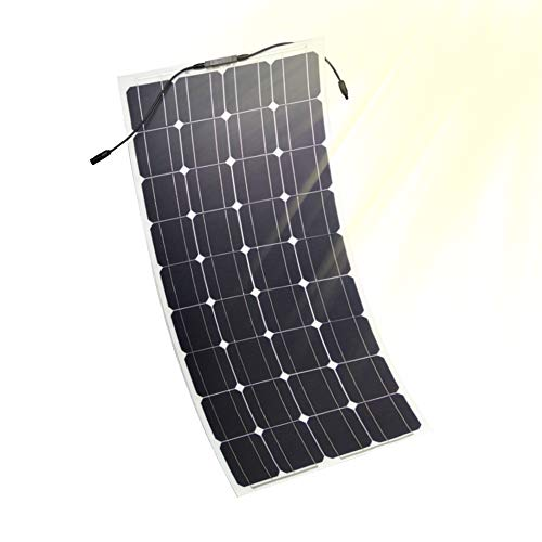 Julitech Los Paneles Solares Flexibles De 100 Vatios, 2 Cargadores Solares De 12V / 24V De Las Pc, Regulador De La Carga del...