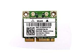 3676J - Dell Wireless 1540 DW1540 WiFi 802.11 a/b/g/n Half-Height Mini-PCI Express Card - 3676J (B00UX36V1G) | Amazon price tracker / tracking, Amazon price history charts, Amazon price watches, Amazon price drop alerts