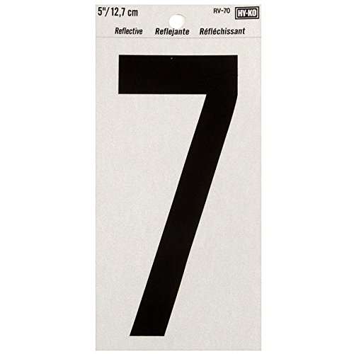 """Hyko Products Co 20404817 Numbering Reflective Vinyl 5"""" (#7) - Black On Silver from HyKo Products Co (FLHWR)"""