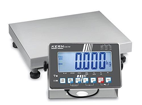 IP-geschützte Plattformwaage [Kern IXS 6K-4] Plattformwaage mit Edelstahl-IP68-Auswertegerät, XL-Display, Wägebereich [Max]: 6 kg, Ablesbarkeit [d]: 0,2 g, Wägeplatte: BxTxH 300x240x86 mm (Edelstahl)