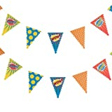 Ginger Ray Bunting Pop Art Superhero Party Banner Decoration, for sale  Delivered anywhere in USA