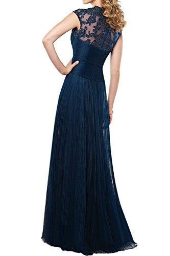 A Festlichkleider Kleider Dunkel Brau Jugendweihe mia Lang Promkleider Tuell Abendkleider Spitze Damen Blau Linie Elegant La Rock 1Pvxw