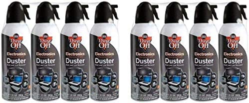 Falcon Dust-Off Electronics Compressed Gas Duster 10 oz (4 Pack) [New Improved Version] (10 oz (8 Pack) (2-Unit))