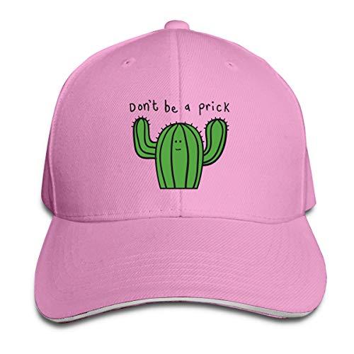 Kidhome Unisex Adjustable Plain Hat Cactus Don't Be A Prick Mug Sporting Baseball Cap Outdoor Snapback Hat -