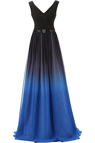 Blau Kleider Damen Lang V Partykleider Marie Braut Festliche Kleider Ausschnitt La Abendkleider Jugendweihe Elegant gqPnH