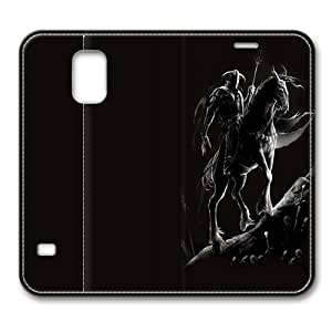 Dark Knight Standing Leather Smart Cover Case Exclusive For Samsung Galaxy S5 Screen