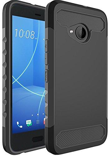 Funda HTC U11 Life,Funda Estuche a prueba de golpes de silicona suave con cubierta de protección de diseño antideslizante...